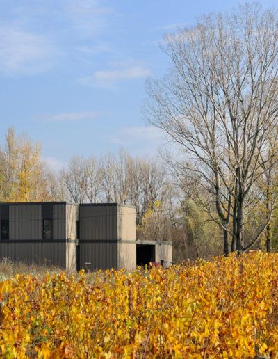 Vue extérieure de la nouvelle cave Julien Pilon à Chavanay