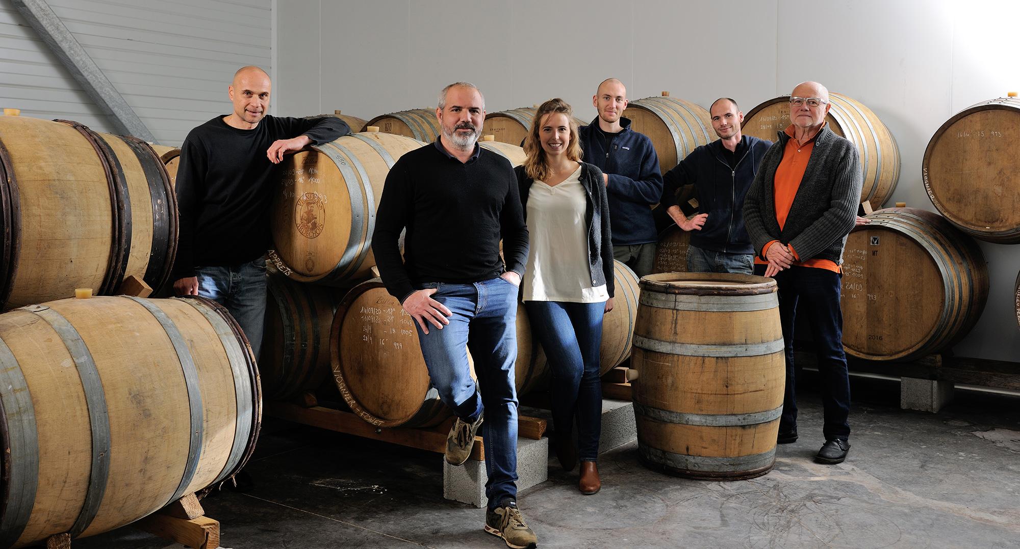 L'équipe de la cave Julien Pilon